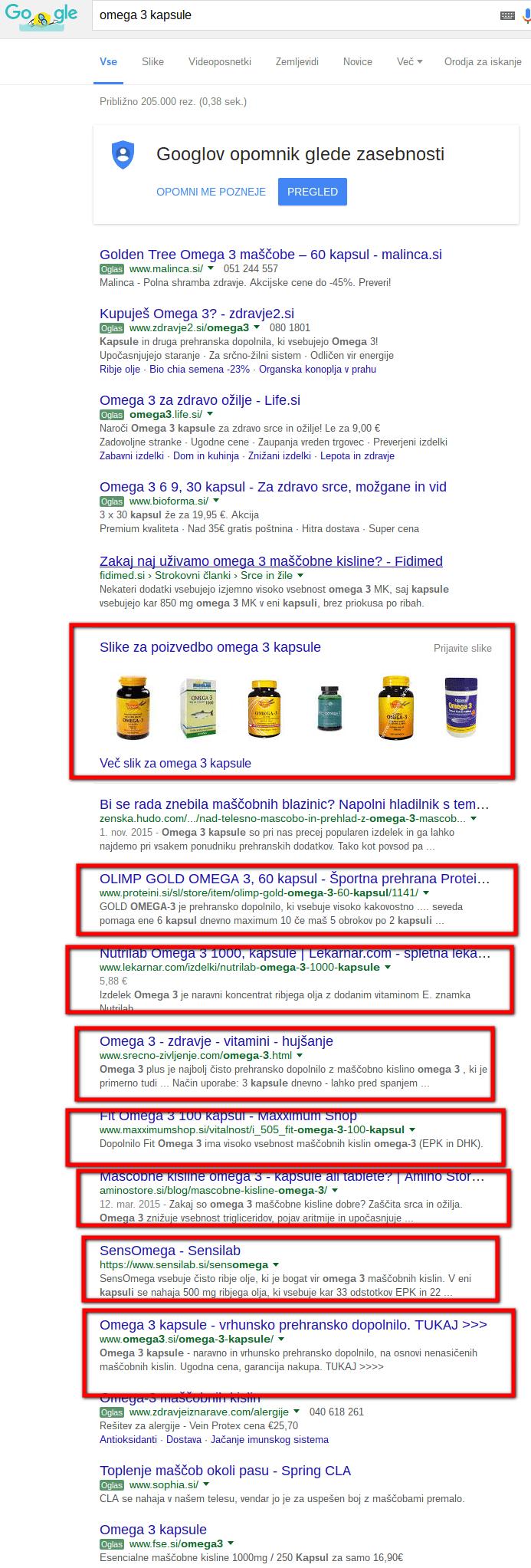 spletne strani s produkti