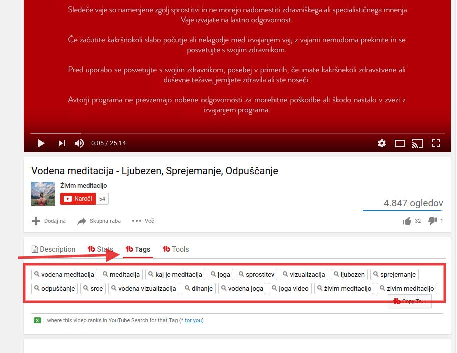 kako optimizirati youtube