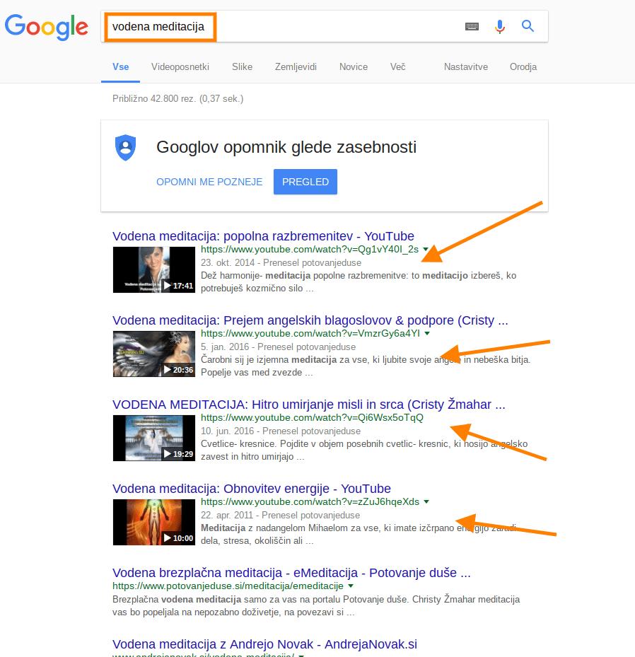 kako priti do prvih mesta na googlu z video vsebinami
