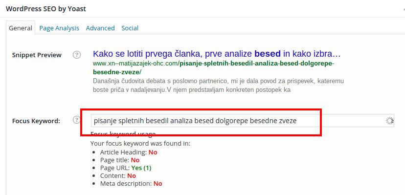 Uredi prispevek ‹ Matija Zajšek — WordPress