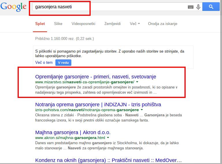 garsonjera nasveti Iskanje Google