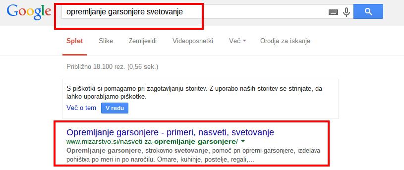 opremljanje garsonjere svetovanje Iskanje Google