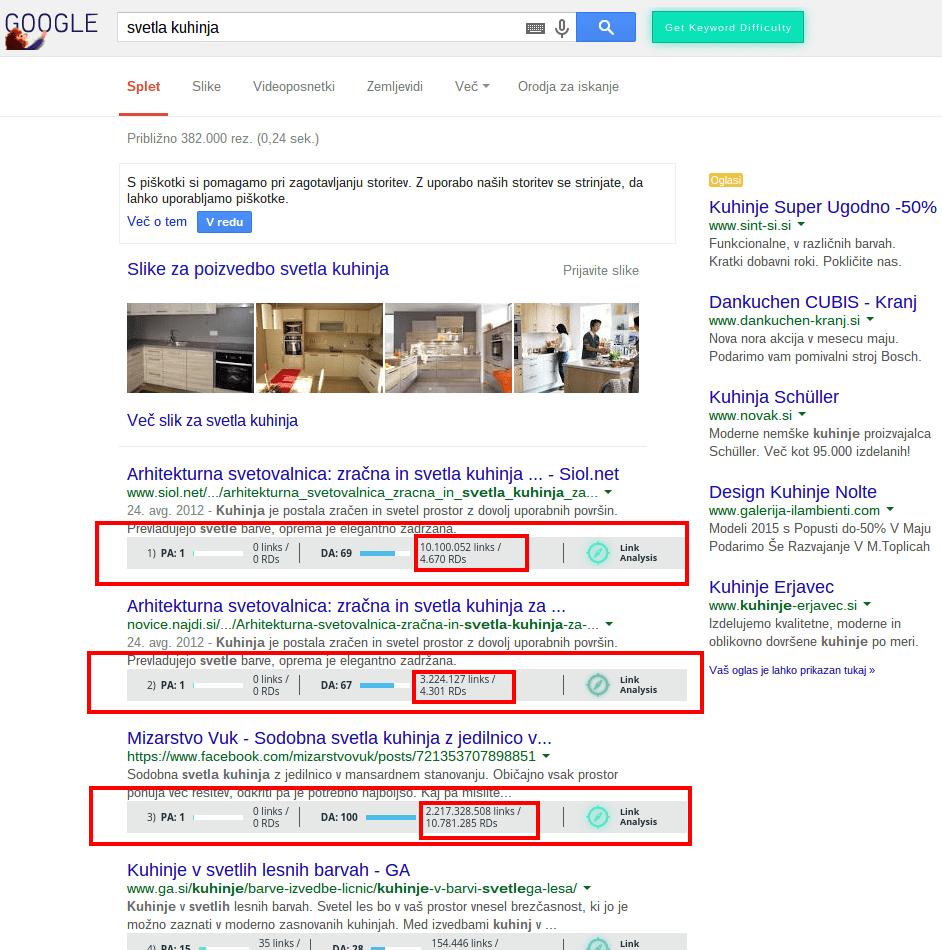 svetla kuhinja Iskanje Google