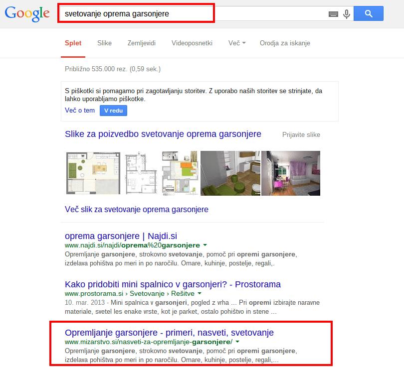 svetovanje oprema garsonjere Iskanje Google