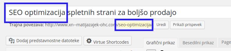 optimizacija strani