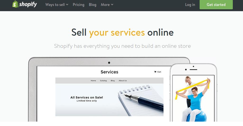 primerjava med prodajo produktov in prodajo storitev preko interneta
