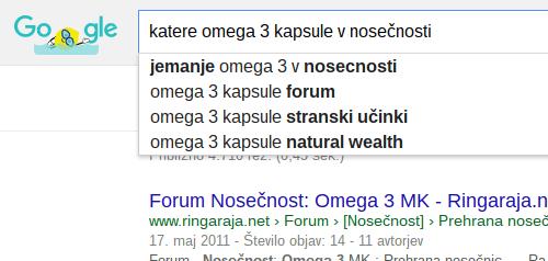 iskanje besed v googlu