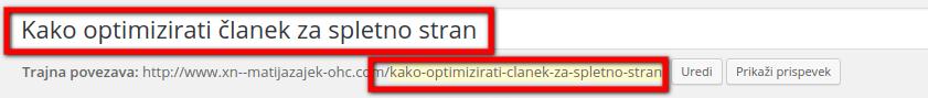 kako optimiziramo seo članke
