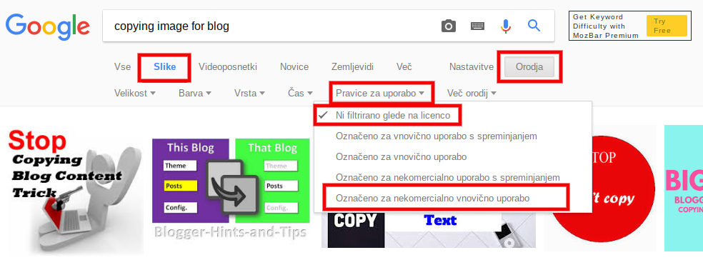 optimizacija slik za seo