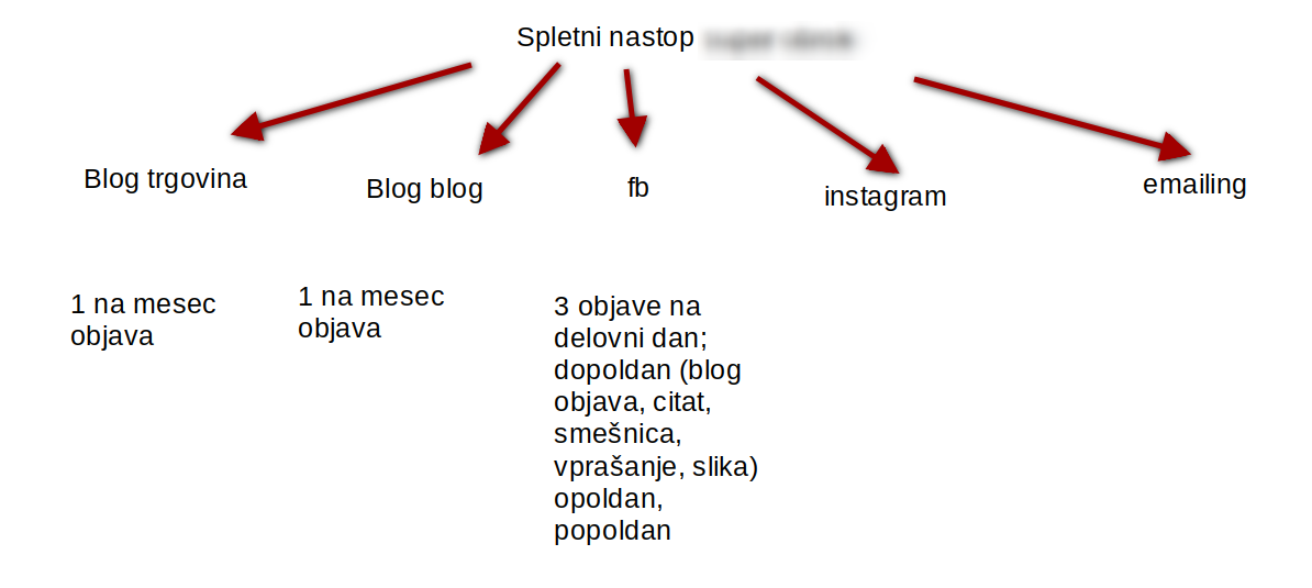 načrt spletnih aktivnosti