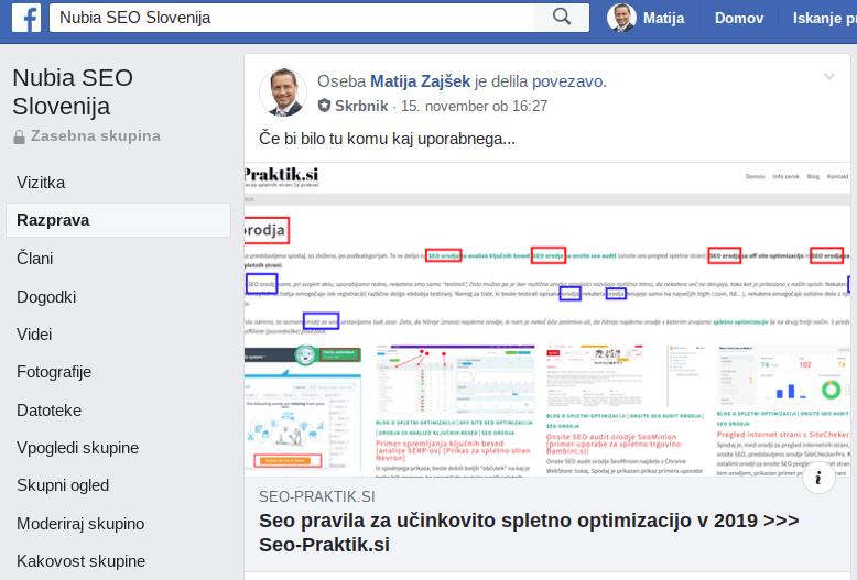 marketinška strategija facebook