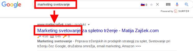 kako optimizirati seo naslov
