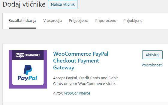 PayPal vtičnik