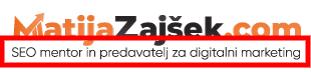 slogan spletne strani